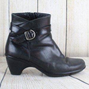 DANSKO Size Zip Ankle Boots Heel Booties Sz 8.5-9